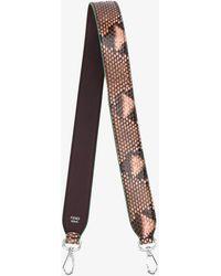 Fendi - Pink Python Strap You Interchangeable Strap - Lyst