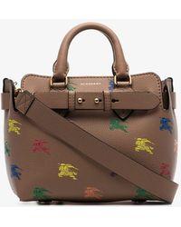 c6dc667b1034 Burberry - The Mini Equestrian Knight Leather Belt Bag - Lyst