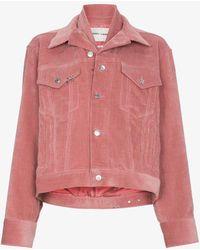 Sandy Liang - Pink Corduroy Jacket - Lyst