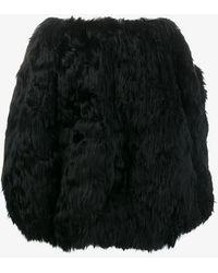 Alaïa - A-line Cupro Skirt - Lyst