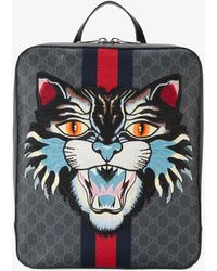 Gucci - Angry Cat Gg Supreme Backpack - Lyst
