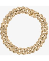 SHAY | Yellow Gold Essential Link Bracelet With White Diamonds | Lyst