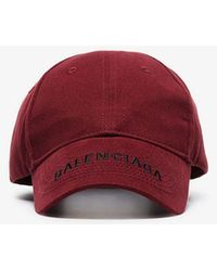 062b38d6412 Lyst - Balenciaga Logo Embroidered Cotton Cap in Gray for Men