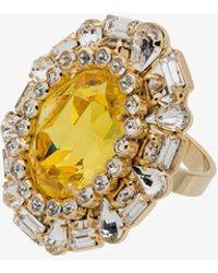 DANNIJO - Khan Crystal Cocktail Ring - Lyst
