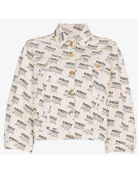 Gucci - Invite Stamp Denim Jacket - Lyst