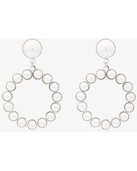Alessandra Rich | Faux Pearl Circle Earrings With Pearl Clip | Lyst