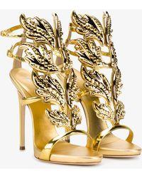 Giuseppe Zanotti - Gold Cruel 130 Sandals - Lyst