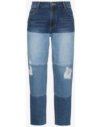 SJYP - High Waist Multi Wash Boyfriend Jeans - Lyst