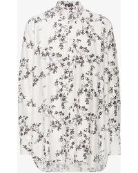 Ann Demeulemeester - Oversized Floral Shirt - Lyst