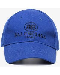 e270c17d116d2 Balenciaga Bb Europe Embroidered Cap in Black for Men - Save ...