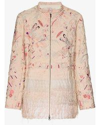 By Walid - Samia Wadded Silk Jacket - Lyst