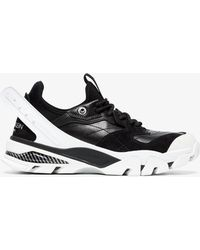 CALVIN KLEIN 205W39NYC - Black And White Carla Leather Trainers - Lyst