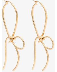 Simone Rocha   Gold Plated Bow Earrings   Lyst