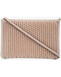 Christian Louboutin - Rose Gold Quadro Spike Clutch Bag - Lyst