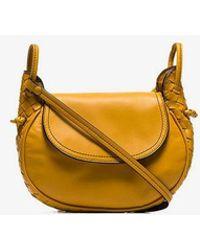 Bottega Veneta - Yellow Messenger Leather Cross Body Bag - Lyst