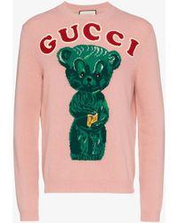 Gucci - Wool Jumper With Teddy Bear - Lyst