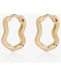 Sabine G - Yellow Gold Wave Huggie Hoops - Lyst