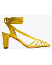 Maryam Nassir Zadeh - Canary Yellow Maribel Strappy Leather Sandals - Lyst