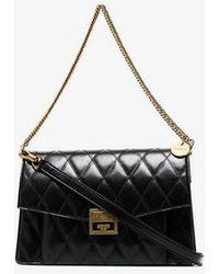 Givenchy - Black Gv3 Quilted Leather Shoulder Bag - Lyst