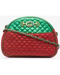 0e3c1f6a5f6 Gucci - Red And Green Trapuntata Quilted Metallic Leather Cross Body Bag -  Lyst