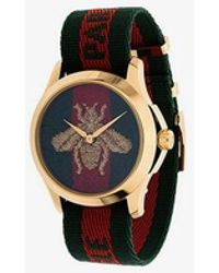 Gucci - Striped Bee Watch - Lyst
