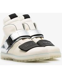Rick Owens - White And Metallic Silver Rotterhiker Leather Boots - Lyst