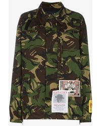 Martine Rose - Camouflage Print Jacket With Embroidered Patches - Lyst
