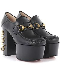 Gucci - Pumps Plateau Malaga Kid Leather Black Jewellery Ornament - Lyst