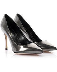 Sergio Rossi - Court Shoes Godiva Leather Grey Metallic - Lyst