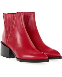 Giampaolo Viozzi - Ankle Boots Calfskin Red - Lyst