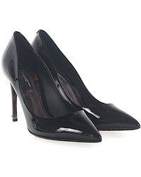 Dolce & Gabbana - Pumps Kate Patent Leather Black - Lyst