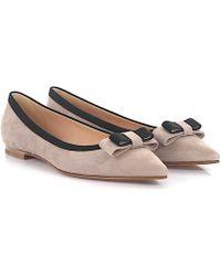 UNüTZER Ballet pumps calfskin suede Ribbon grey Sale Excellent Cheap Sale Discounts mW8DrIns