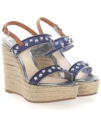 Dior - Wedge Sandals Joy Nylongaze Woven Purple Jewellery Ornament - Lyst