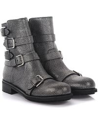 Jimmy choo Boots Dawson flat leather embossed nM4EuoVVHE