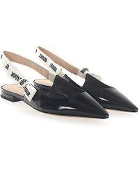 e8a7cc42e0d Dior - Slingback-ballerinas J a Patent Leather Black - Lyst