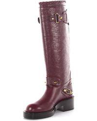 Balenciaga Boots Pelle lamb fur IkcvMrDs