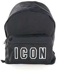 DSquared² - Rucksack ICON Textil schwarz - Lyst