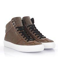 Jimmy choo Sneaker high Belgravi leather bronze metallic finished fhFrK