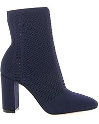 Gianvito Rossi - Ankle Boots Thurlow Nylon Perforated Blue - Lyst