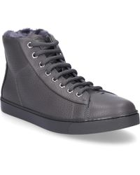 Gianvito Rossi - High-top Trainers Peter Smooth Leather Embossing Grey - Lyst