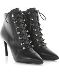 Balenciaga - Ankle Boots Nappa Leather Black Rivet - Lyst
