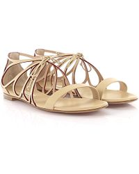 Casadei - Sandals Evening Leather Nude - Lyst