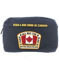 DSquared² - Men Hip Bag Canvas Blue Canada Flag Patch - Lyst