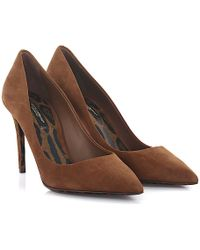 Dolce & Gabbana - Court Shoes Kate R Suede Brown - Lyst