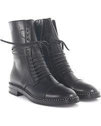 Casadei | Boots Lovecalf Leather Black Pearls | Lyst
