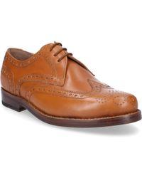 Heinrich Dinkelacker - Business Shoes Budapester 9631 Calfskin Hole Pattern Brown - Lyst