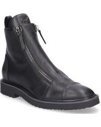 Giuseppe Zanotti - Ankle Boots Tyson Smooth Leather Logo Black - Lyst