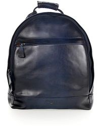 Santoni - Backpack A1764 Leather Blue - Lyst