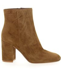 Gianvito Rossi - Ankle Boots Rolling 85 Suede Brown - Lyst
