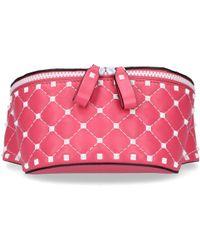 Valentino - Women Beltbag Rockstud Studs Pink - Lyst